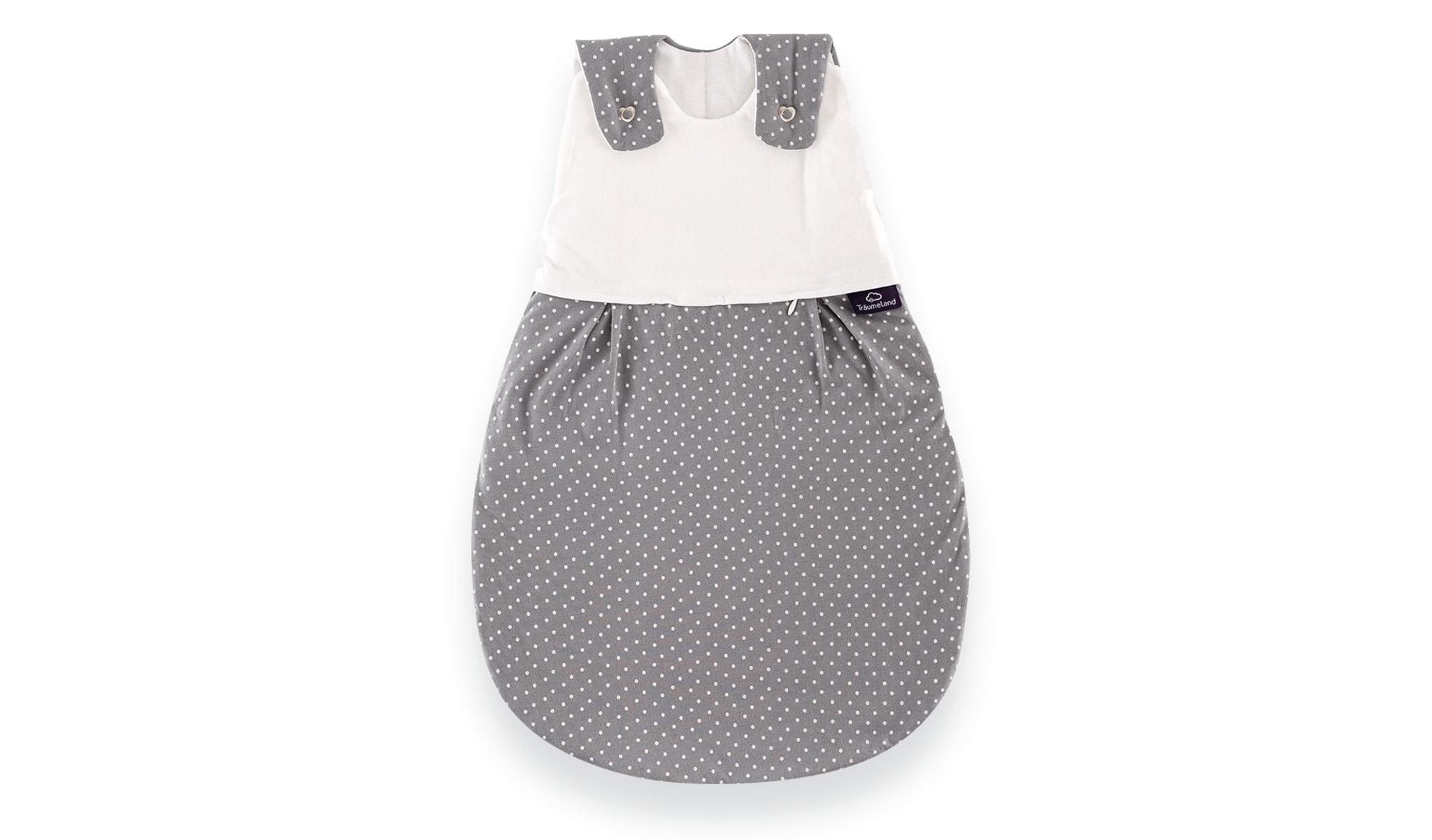 שק שינה לתינוק דגם Little Dots Grey