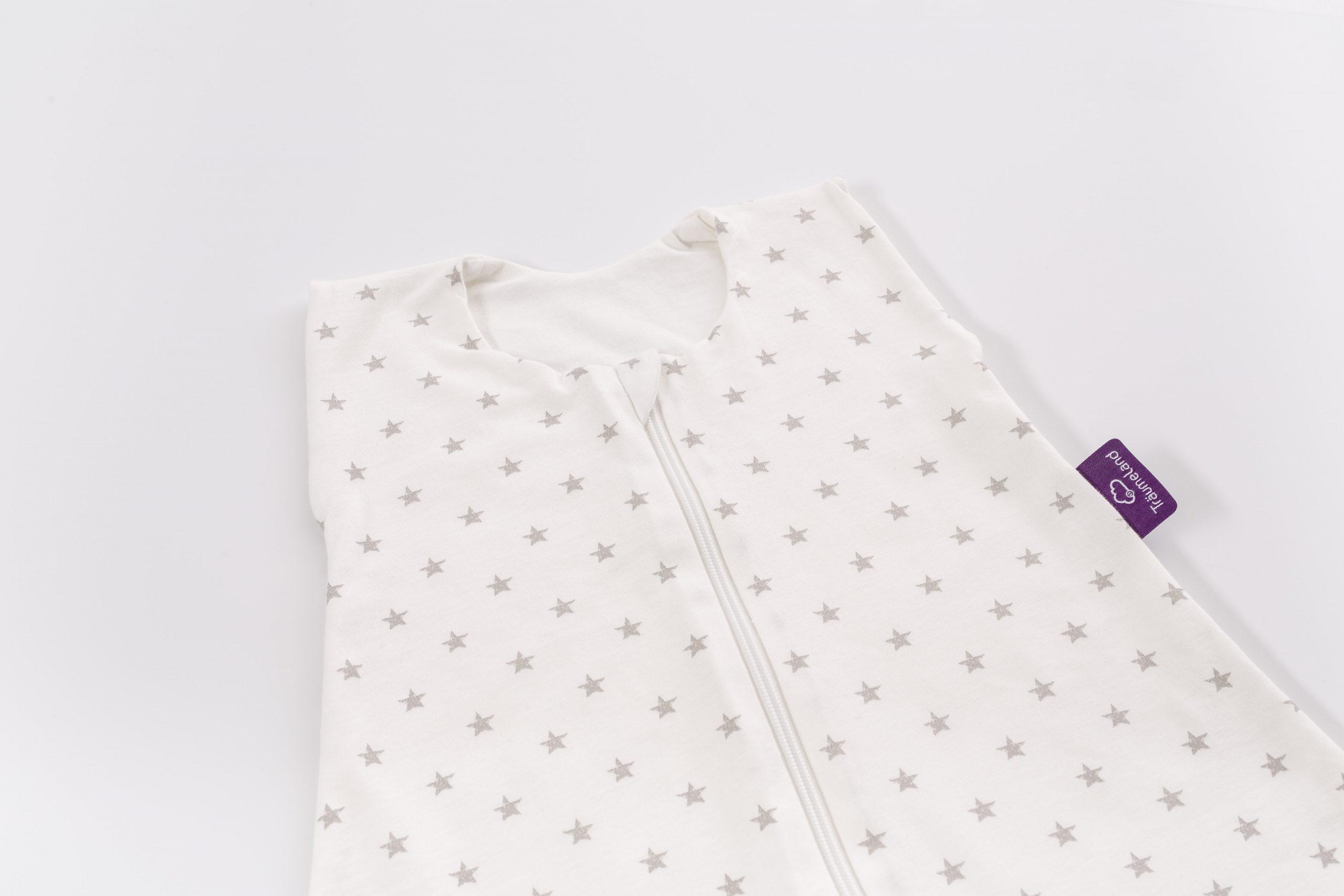 שק שינה לתינוק דגם White With Grey Stars