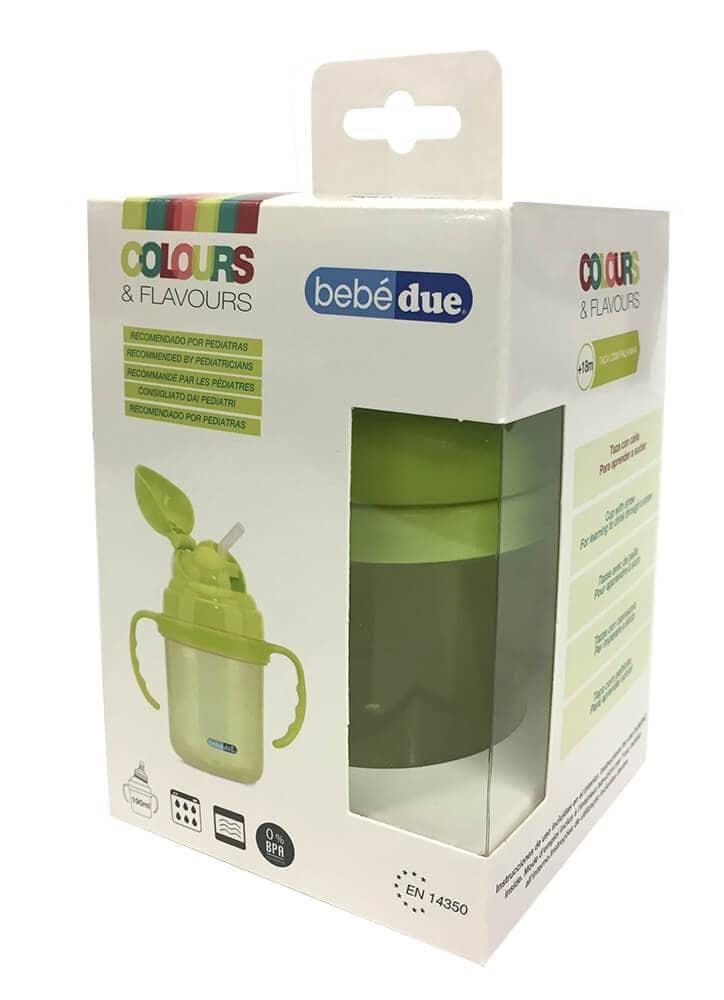 בקבוק Bebe Due עם קשית ירוק