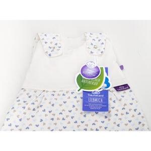 שק שינה לתינוק דגם Heart Blue