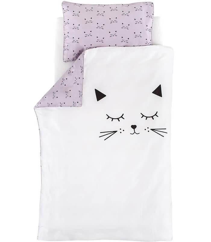 סט מצעים דגם Cuddly Cat